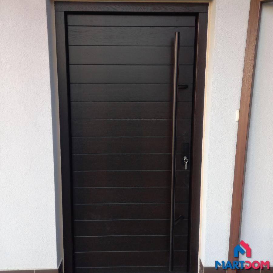 Drzwi zewnętrzne Cal Kverko Termo Heban